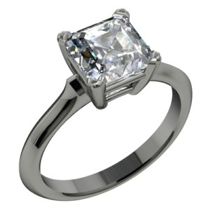 3 Stone Emerald Cut Engagement Rings